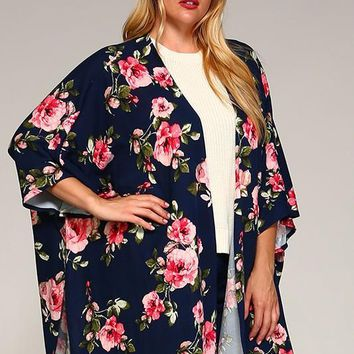 Floral Motivation Cardigan