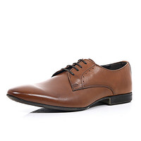 River Island MensBrown leather lace up formal shoes