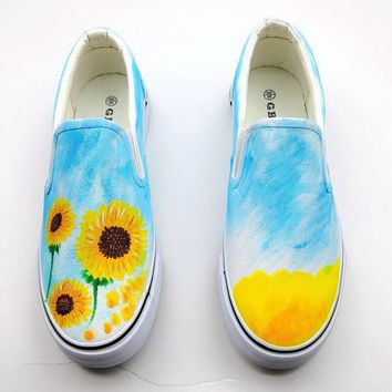 Personalized hand-painted breathable canvas sneakers