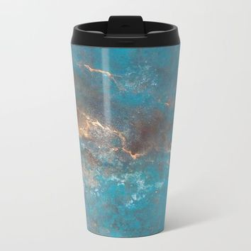 Modern Abstract Metal Travel Mug by Salome
