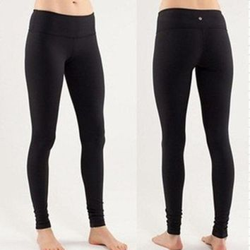 """lululemon"" Fashion Print Exercise Fitness Gym Yoga Running Net yarn Leggings Sweatpants (7 Points Long)"