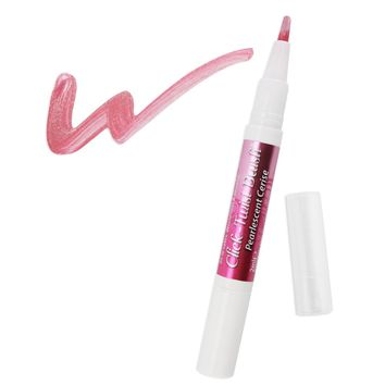 Pearlescent Cerise Pink Edible Paint Click Twist Brush