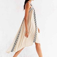 Hazel Embroidered Trapeze Tank Dress- Ivory