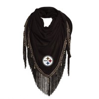 Pittsburgh Steelers Beaded Scarf