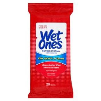 Wet Ones Antibacterial Fresh Scent Hand Wipes - 20ct