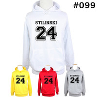 Stiles Stilinski No.24 Teen Wolf Lacrosse Birthday Family Custom Vacation Personalized Design Pattern Men's Women's Girl's Boy's Hoodie Sweatshirt Hoody Tops#WM099 = 1931668612