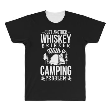 whiskey and camping! All Over Men's T-shirt