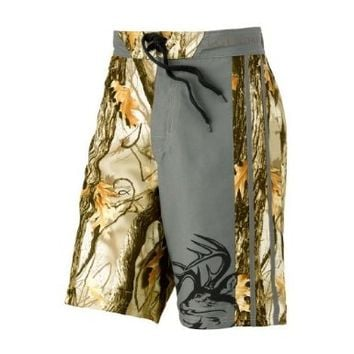 Legendary Whitetails Men's God's Country Camo Lakeside Swim Shorts