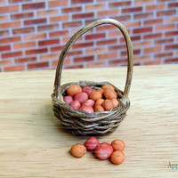 1:12 Dollhouse Scale Handmade Miniature Loose Small Red Potatoes - Set of Five, Polymer Clay  Miniature Food