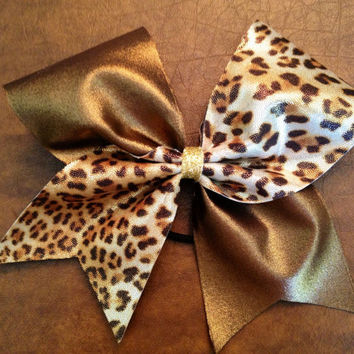 Cheer Bow - Cheetah and Copper