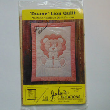 Duane Lion Baby Quilt by Juke's Creations