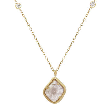 Shaesby Double Bling Diamond Slice Necklace