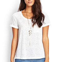 LOVE 21 Loose Knit Pocket Tee