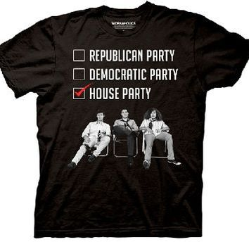Workaholics Republican Democratic House Party Adult Black T-shirt - Workaholics - | TV Store Online