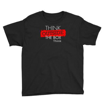 think outside the box thinker Youth Tee