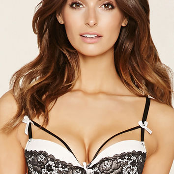 Lace Bow Push-Up Bra