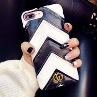 Perfect Gucci Fashion iPhone Phone Cover Case For iphone 6 6s 6plus 6s-plus 7 7plus 8 8plus X
