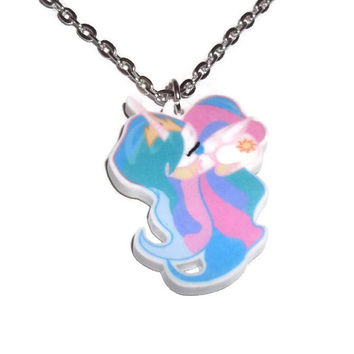 Princess Celestia Necklace, Sleeping Cute Pony,  My Little Pony Friendship is Magic