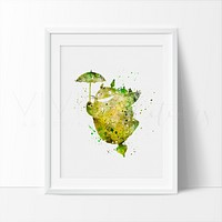 Totoro, My neighbor Totoro 2 Watercolor Art Print