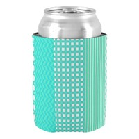 Pastel Turquoise Pattern Mix Can Cooler