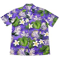 amazon purple hawaiian cotton shirt