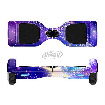 The Glowing Pink & Blue Comet Full-Body Skin Set for the Smart Drifting SuperCharged iiRov HoverBoard