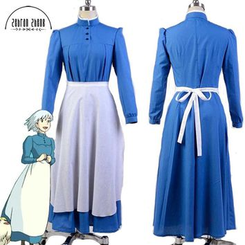 New Arrival Howl's Moving Castle Sophie Hatter Cosplay Costume Dress For Party Costume Custom-made