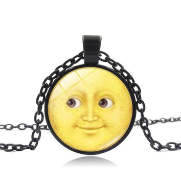 Sun and moon Emoji Pendant necklace Fashion Jewelry
