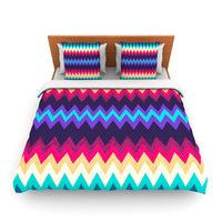 "Nika Martinez ""Surf Chevron"" Lightweight Duvet Cover"