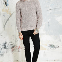 Shore Leave Twist Slub Sweater in Red - Urban Outfitters