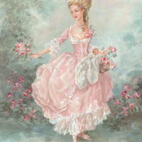 Debi Coules - 18th Century French Style Woman Lilliana - Giclee Print - The Bella Cottage