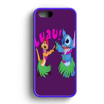 Luau Timon Silhouette And Stitch Disney iPhone 5 Case Available for iPhone 5 Case iPhone 5s Case iPhone 5c Case iPhone 4 Case