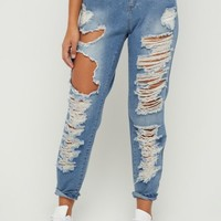 Blown Out Vintage Mom Jean in Regular