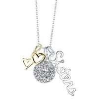 Silver Plated Sisters Necklace - Gold/Silver