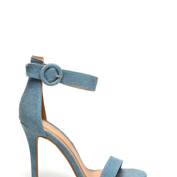 Circle Of Love Ankle Strap Heels