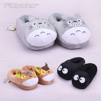 Anime Cartoon Totoro Plush Slippers