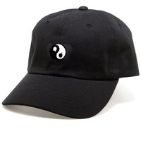 The Ying Yang Drip Dad Hat in Black