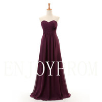 Sweetheart Chiffon  Floor-length Bridesmaid/Evening/Prom Dress