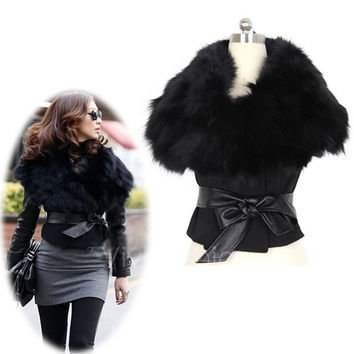New Women Faux Fur Sunday Yarns Coat Sleeveless Vest Women's Outerwear VVF