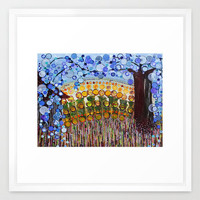 :: Indiana Blue Willow :: Framed Art Print by GaleStorm Artworks | Society6