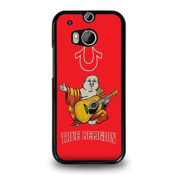 RED BIG BUDDHA TRUE RELIGION  HTC One M8 Case Cover