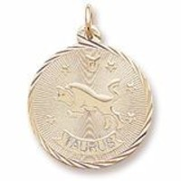 Taurus Charm in Yellow Gold Plated