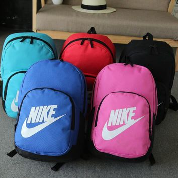 NIKE Leisure and fashion sports double shoulder backpacking primary high school college student bag wear-resistant nylon outdoor travel backpacks