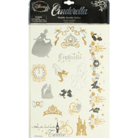 Disney Cinderella Metallic Temporary Tattoos