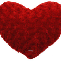 "Red Heart Plush Throw Couch Pillow Multi Color LED Light Up Flash 13"" Microbeads"
