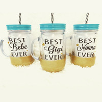 Personalized Tumbler  * Custom tumbler *  Personalized gift * Mothers gift * Glitter dipped tumbler * Birthday Gift * Gift for her