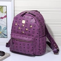 MCM Women Leather Casual Shoulder SchoolBag Satchel Handbag Backpack bag H-YJBD-2H-1