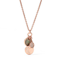 Charm Disc Necklace