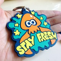 Splatoon Squid Rubber Keychain