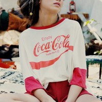 Wildfox Couture Coca Cola Sunny Morning Tee in Vintage Lace